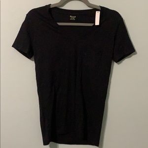 Madewell Black t-shirt XXS NWT With pocket